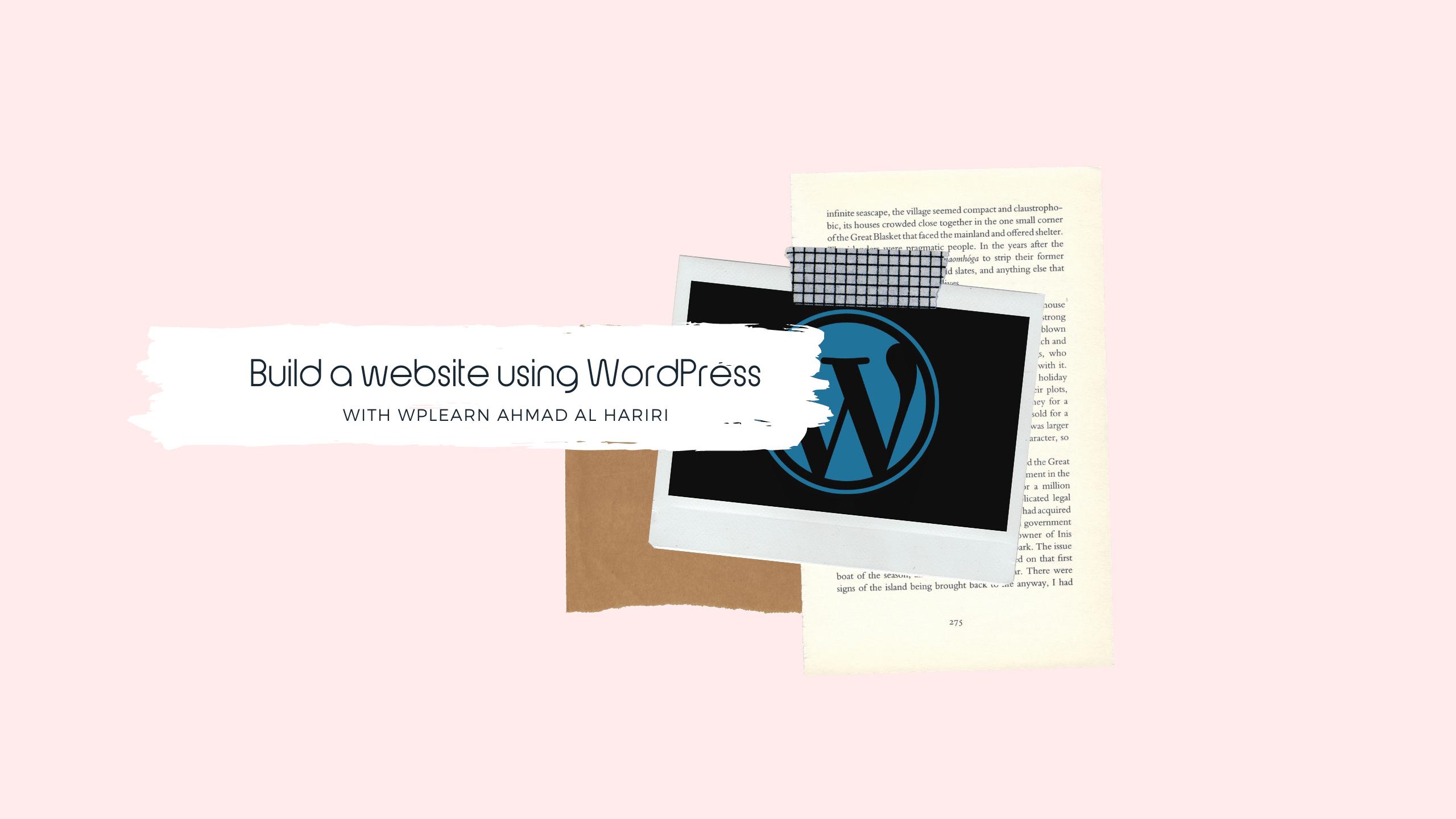 انشاء موقع الكتروني باستخدام ووردبريس مجاناً في خطوتين
