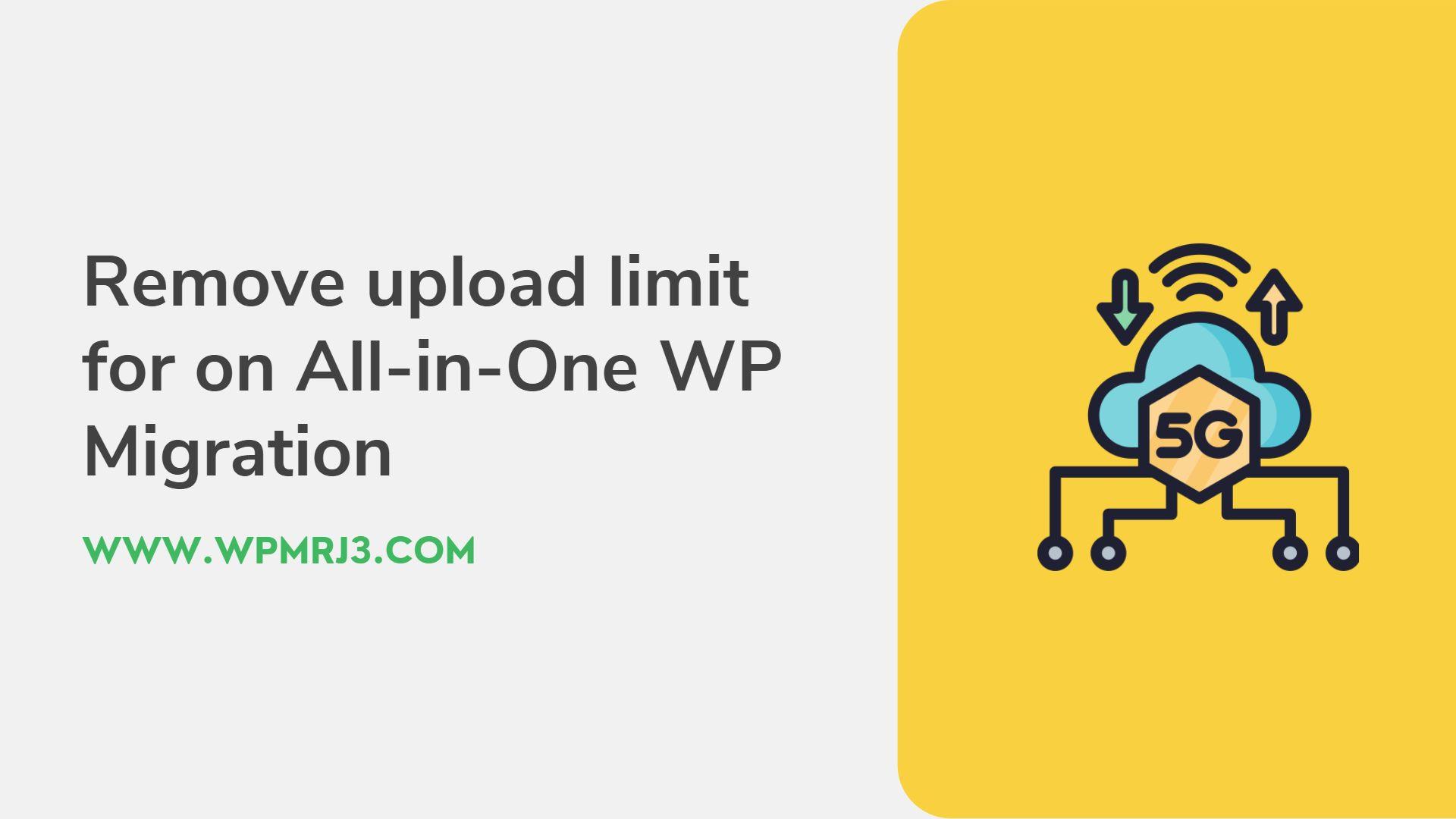 نقل موقع ووردبريس مجانا وحل مشكلة اضافة All in one WP Migration
