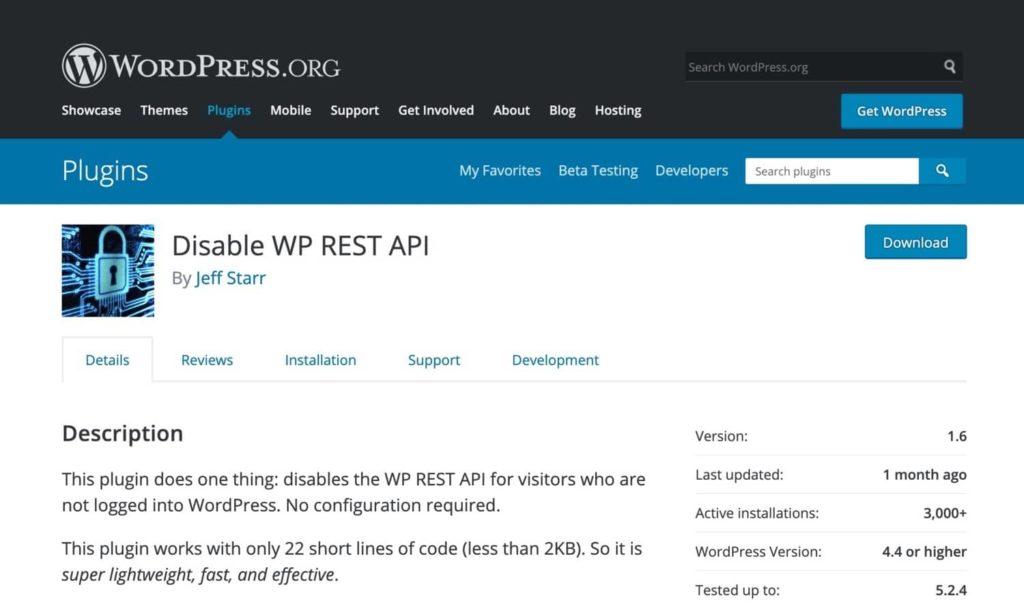 disable wp rest api